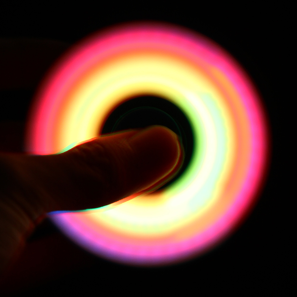 LED Light Hand Finger Spinner Fidget Plastic EDC Spinner Hand For Autism And ADHD Relief Focus Anxiety Stress Toys Gift