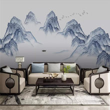New Ink Artistry Landscape Water Wall Professional Production Mural Factory Wholesale Wallpaper Mural Poster Photo Wall(China)