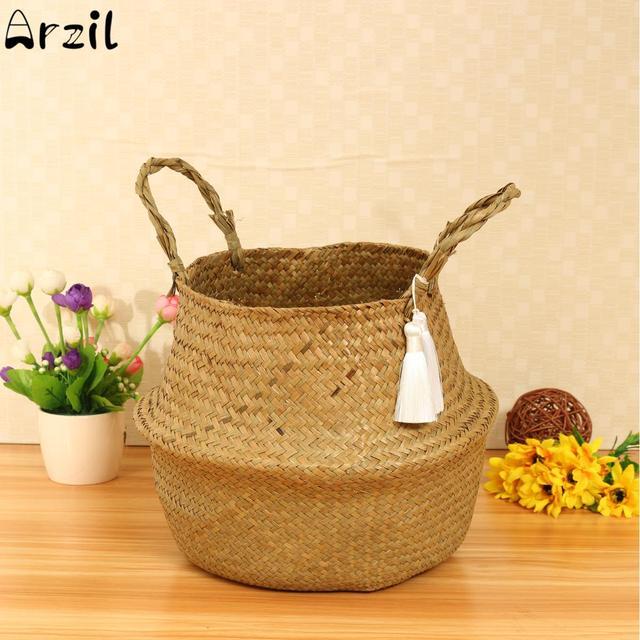 32x26cm Seagr Laundry Basket Storage Bag Belly Plant Planter Foldable Nursery Pot Home Decoration Floor