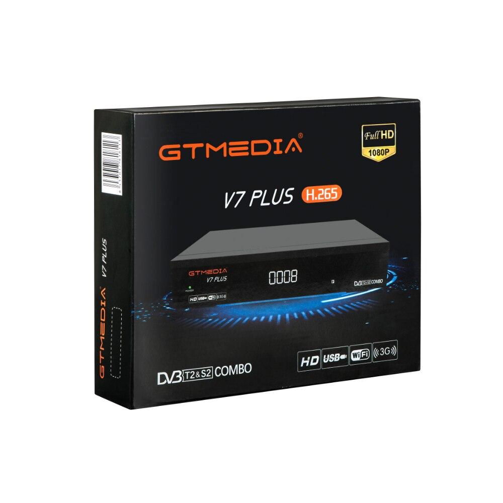 US $24 9 |GT Media V7 Plus Combo DVB T2 DVB S2 Satellite Receiver Suport  H 265 PowerVu Biss Key Ccam Newam Youtube USB Wifi 1080P Full HD-in  Satellite