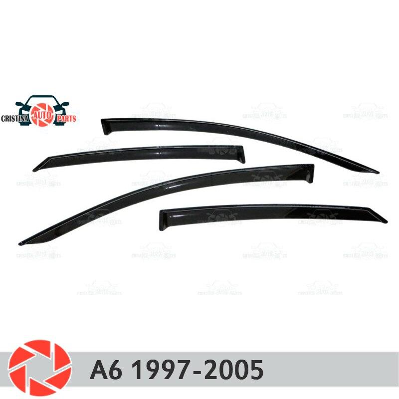 Déflecteur de fenêtre pour Audi A6 1997-2005 déflecteur de pluie protection contre la saleté accessoires de décoration de voiture moulage