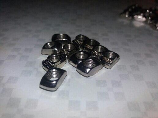 100pcs 50 pcs  M3/M4/M5*10*6 For 20 Series Slot T-nut Sliding T Nut Hammer Drop In Nut Fasten Connector 2020 Aluminum Extrusions