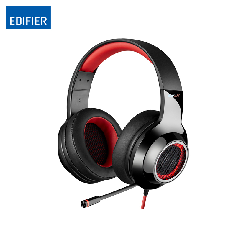 Gaming Headset Wireless Headphones Bluetooth Earphone Edifier G4 Headphone Earbuds Earphones With Microphone Red and Green Color original kz zs10 in ear earphone 4ba 1dd 10 driver unit hybrid technology earbuds heavy bass dj monito running sport headset