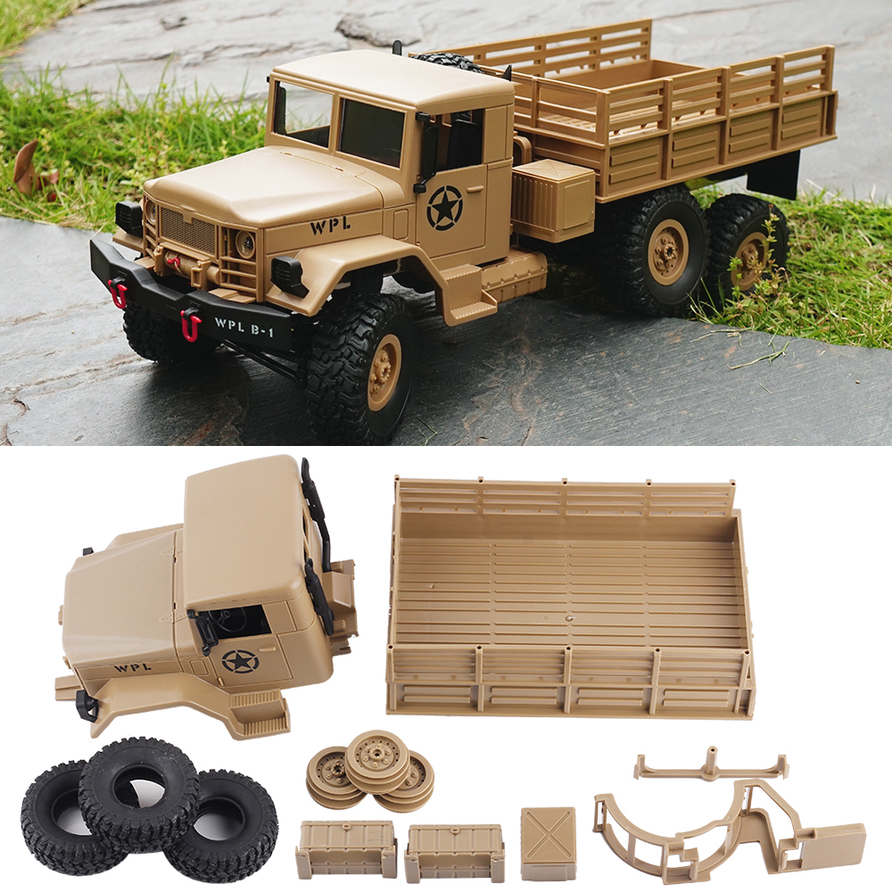 WPL B-16 B16 Off-Road RC Military Truck WPL Upgrade KIT DIY 1:16 RC Car Monster Truck 6WD Army Vehicle 6 Wheel Assemble CrawlerWPL B-16 B16 Off-Road RC Military Truck WPL Upgrade KIT DIY 1:16 RC Car Monster Truck 6WD Army Vehicle 6 Wheel Assemble Crawler
