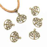 20 pcs Pendants for necklace antique Bronze life of tree Pendants Jewelry Findings & Components D-3-32-B