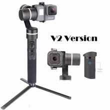 Feiyu G5 V2 Updated 3 Axis Splash Proof Handheld Gimbal for GoPro Hero 6 /5 /4 /3 Yi Cam 4K Action Cameras Size with Mini Tripod