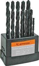 Набор сверл по металлу оксидированных КРАТОН d1-10 мм 19 шт