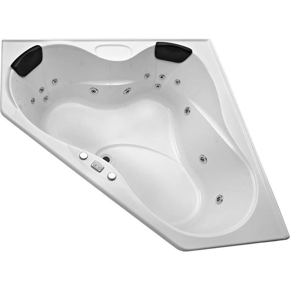 Black PU Waterproof Ergonomic Design Bath Pillow 27x15.5cm-1