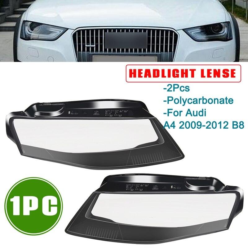 Autoleader Горячая 1 пара автомобилей с левой стороны/правая сторона спереди комплект чехол Лен фара лампа основа стайлинга автомобилей для Audi A4 ...
