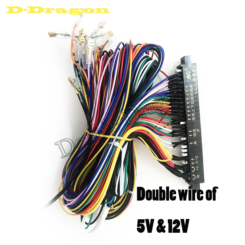 28Pin JAMMA Arcade Wire Harness Loom 5/12V Wiring for ... on electric harness for loom, warping a 4 harness loom, wiring loom sleeve,
