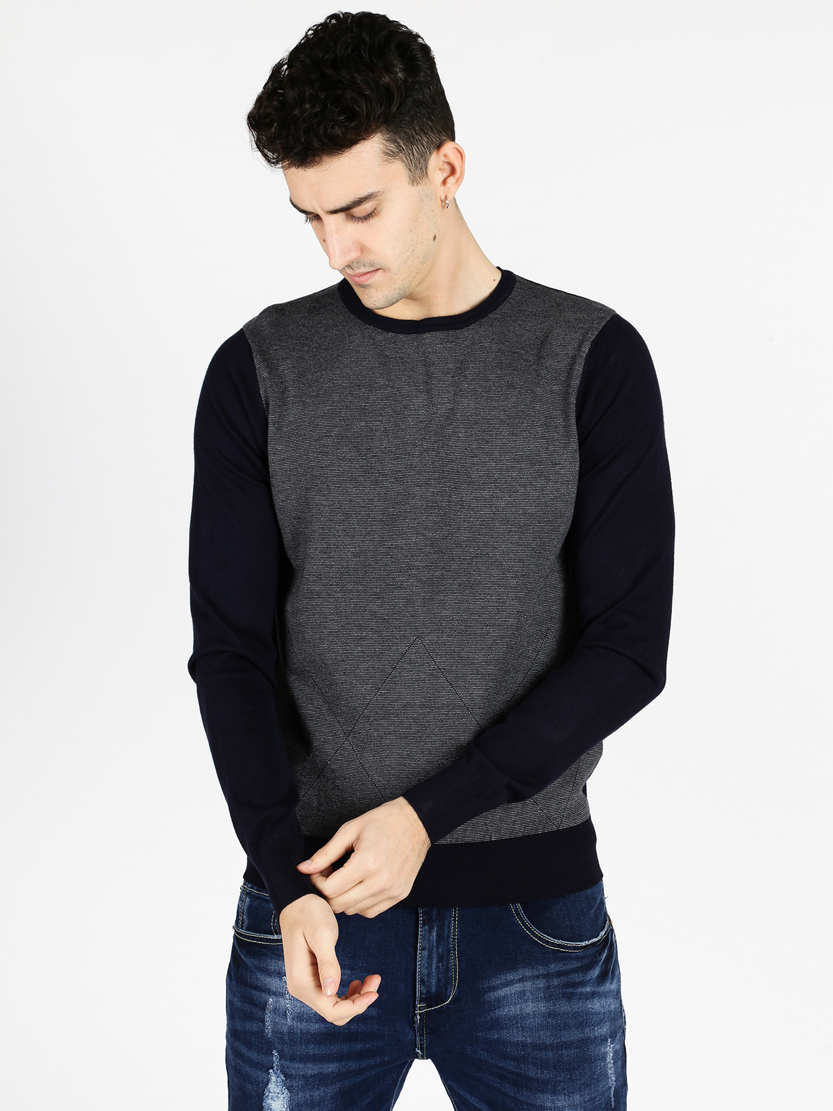 Knitted Tricot Crew Neck