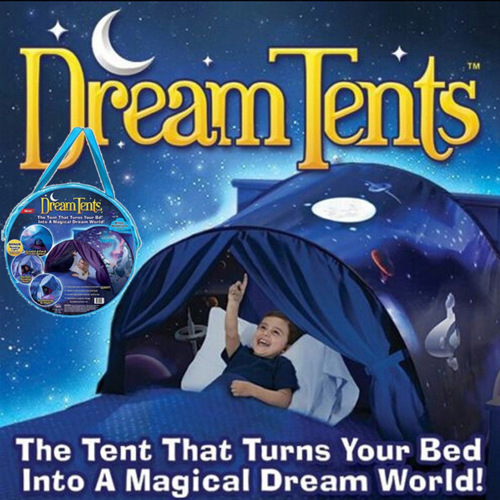 Kids Dream Tents Baby Pop Up Bed Tent Unicorn Snowy Foldable Playhouse Comforting At Night Sleeping Outdoor Camp Tipi