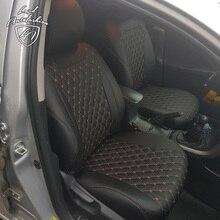 Для Toyota Corolla E150 2007-2013 Модельные авточехлы из экокожи (Модель Байрон)
