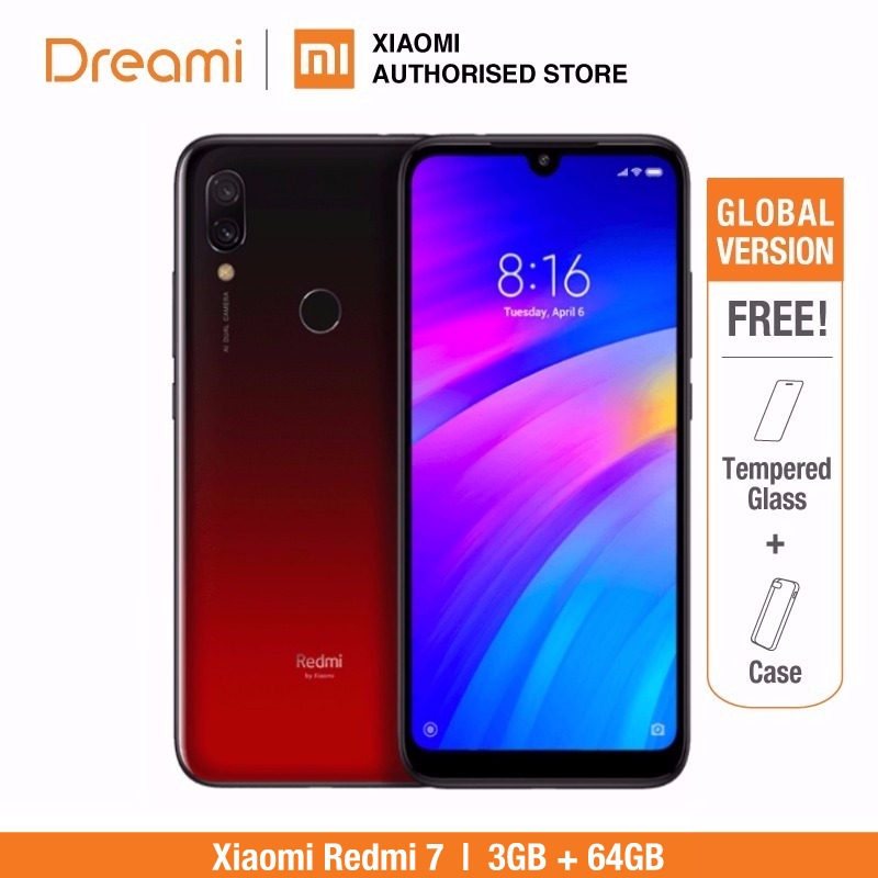 Global Version Xiaomi Redmi 7 32GB ROM 3GB RAM (Brand New and Sealed Box) RED COLOR-in Cellphones from Cellphones & Telecommunications