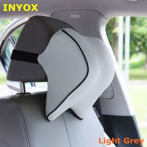 Image 3 - S1 ヘッドレスト車の首枕シート腰椎枕自動車バックヘッドレスト低反発生地チェアサポートクッションカバー