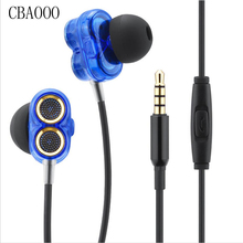 New Arrivals Q2 in ear Earphone With Microphone HiFi Stereo Earbuds Wired Headset headphones For Earpods Mobile Phone Airpods