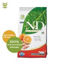 N&D Cat Fish & Orange Adult корм для взрослых кошек, Рыба и апельсин, 1,5 кг.