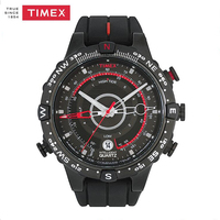Timex Men S T2N720 Intelligent Quartz Tide Temp Compass Black Silicone Strap Watch