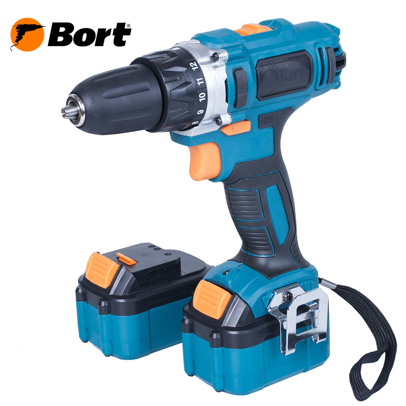 18V Bort Li-Ion Lithium Battery Electric Drill Cordless Screwdriver Mini Drill Cordless Screwdriver Power Tools Cordless Drill BAB-18x2Li-XDK 60v scooter electric bike motorcycle 3000w lithium ion battery pack