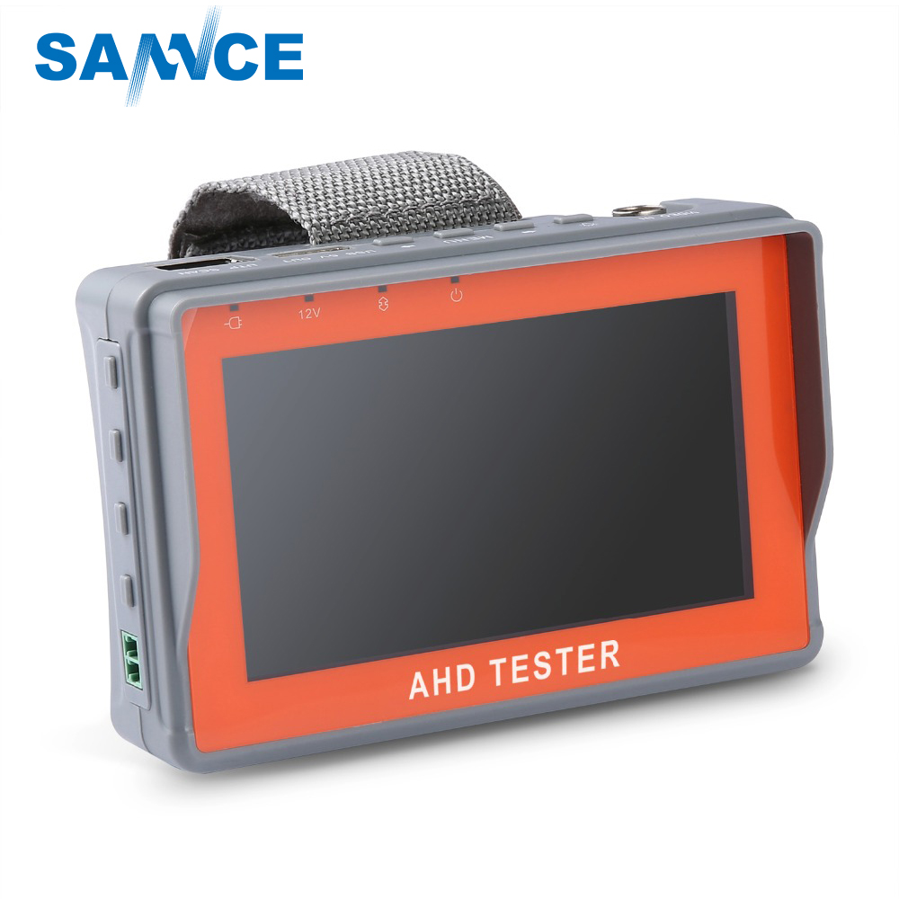 SANNCE AHD CCTV Tester Monitor 4.3 Inch HD 1080P Analog Camera PTZ UTP Cable Tester 12V1A Output for Home Security