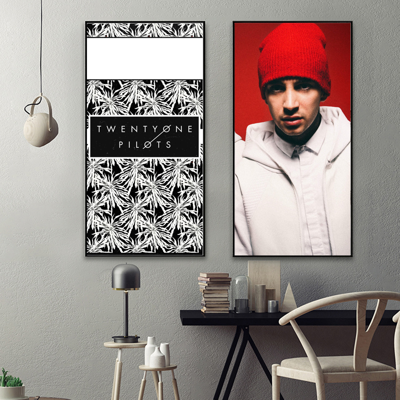 twenty-one-pilots-fabric-poster-canvas-painting-abstract-oil-painting-chinese-painting-wall-pictures-canvas-print-wall-art-canva 4