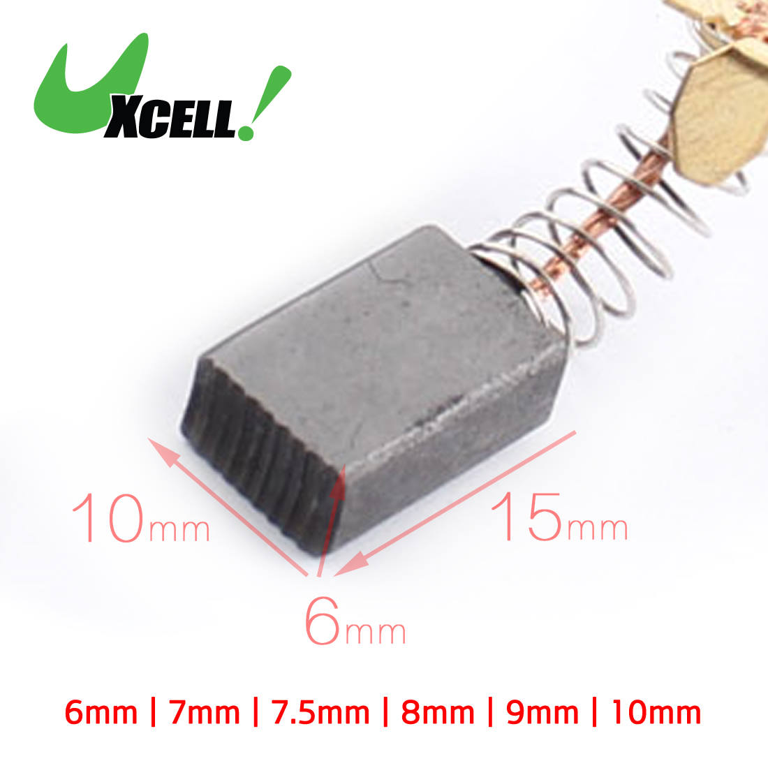10 Pcs Electric Tool Spare Part 11mm x 8mm x 5mm Motor Carbon Brush