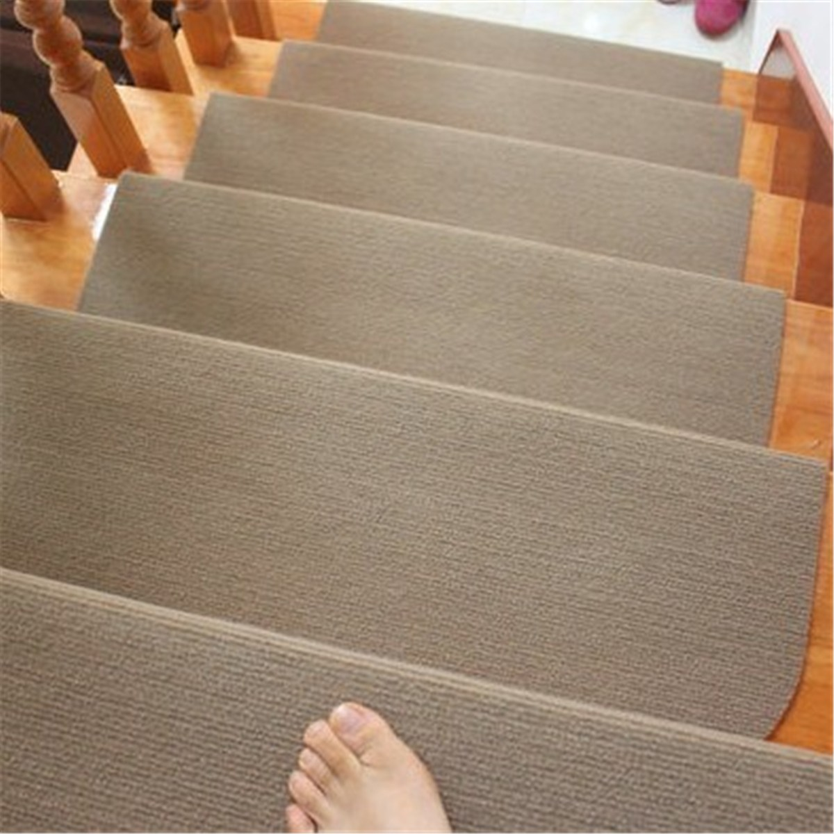 55x24cm Tread Household Door Non Woven Carpet Stair Mats Non Slip PVC  Bottom Step Area Pads Rug Home Textiles Decoration 2 Color In Carpet From  Home ...