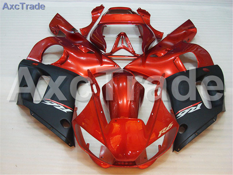 Motorcycle Fairings Kits For Yamaha YZF600 YZF 600 R6 YZF-R6 1998-2002 98 - 02 ABS Injection Fairing Bodywork Kit Red Black A421 high quality abs fairing kit for yamaha r6 1998 1999 2000 2001 2002 yzf r6 yzf r6 98 02 yellow white black fairings set nx27