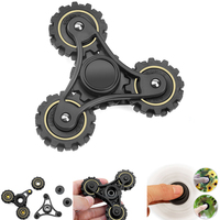 Gear Beads Finger Spinner Tri Hand Spinner Adult Kid Anxiety Stress Relief Toy