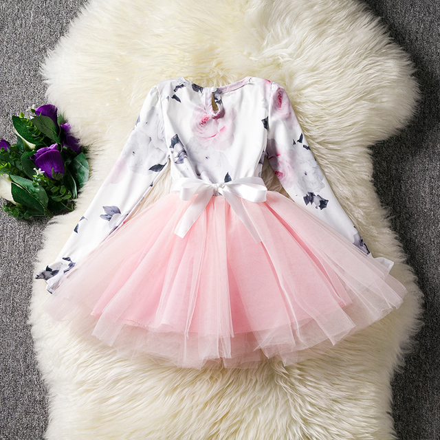 Girls Bell Sleeves Tutu Dress