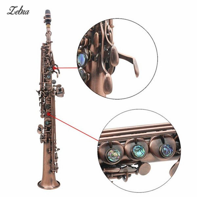 Carved Abalone Shell Key Copper Soprano B Sax Saxophone For Woodwind Musical Instruments Lover Gift new arrival screw nut plug saxophone trumpet erhu musical woodwind instrument microphone prevent mechanical noise for helicopter