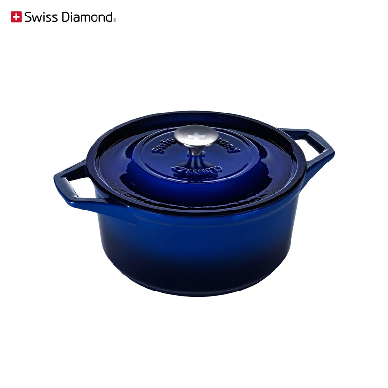 Pan Swiss Diamond PC 1225CB blue cookware for kitchen tableware dinnerware trendy crystal long ring swiss blue