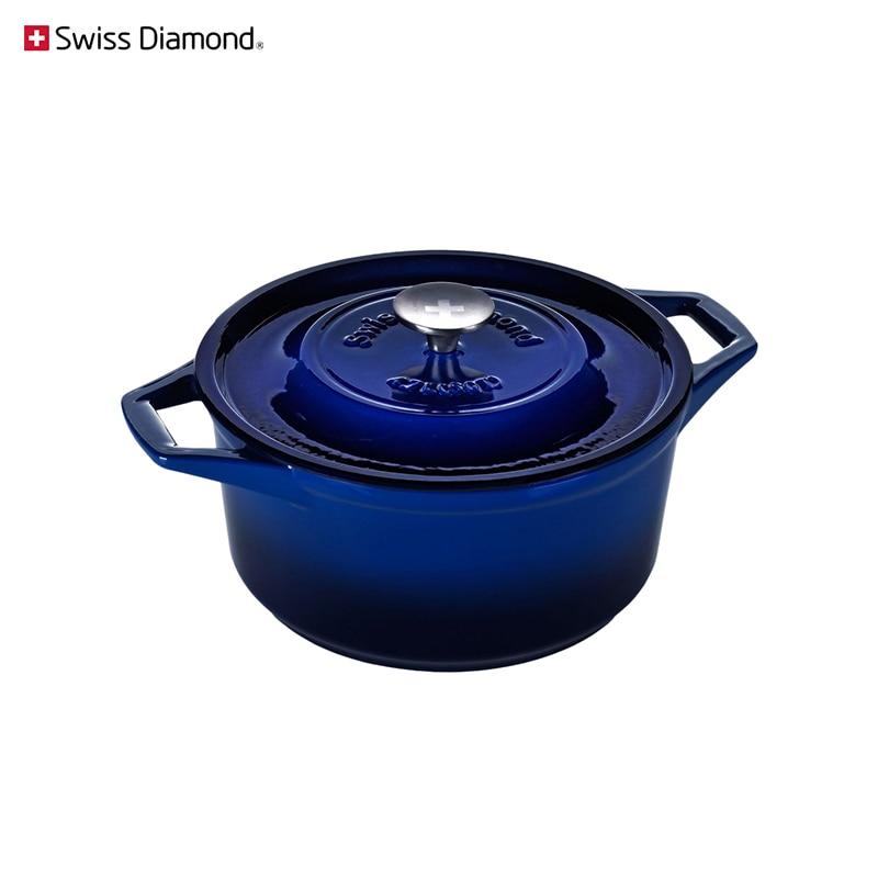 Pan Swiss Diamond PC 1225CB Blue Cookware For Kitchen Tableware Dinnerware