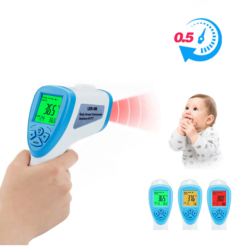 Baby Adult Digital Thermometer Infrared Forehead Non-contact Infrared Thermometer With LCD Backlight Termometro Infravermelh