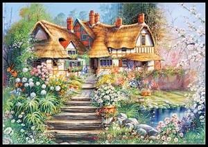 Image 5 - Nakış Sayılan Çapraz dikiş kitleri İğne El Sanatları 14 ct DMC Renk DIY Sanat El Yapımı Dekor Manzara 258x182