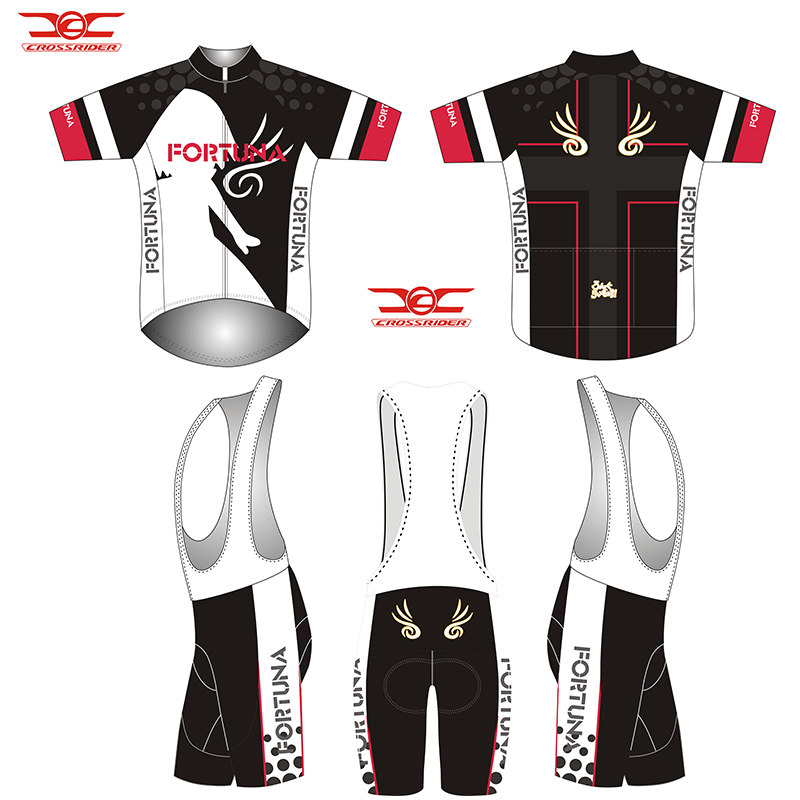 Crossriders 2019 BLACK Fortuna short cycling jersey MTB
