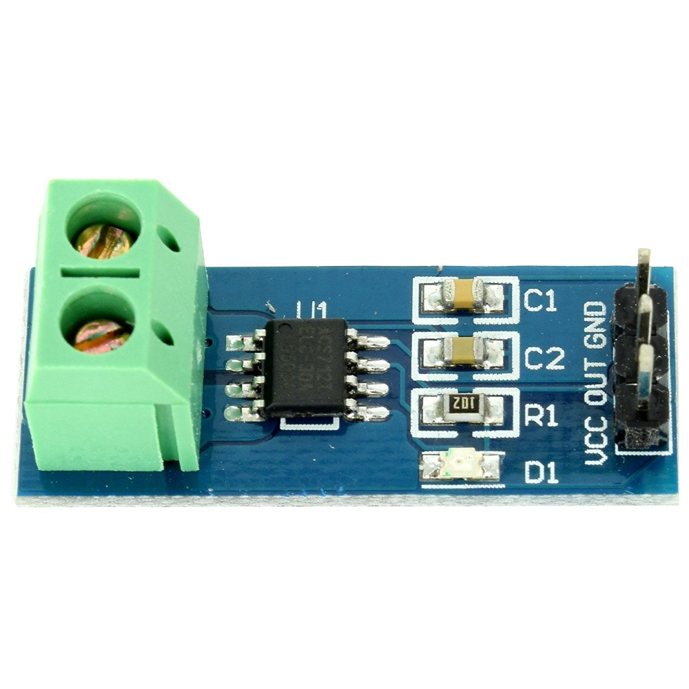ShenzhenMaker Hall Effect Current Sensor Module 30A ACS712 from Optimus Electric