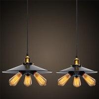 Smuxi Vintage Industrial Lighting Copper Lamp Holder Pendant Light Lampshape Aisle Lights Lamp Edison Bulb 110V 220V 3 Heads