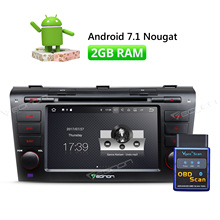 """2GB RAM 7"""" Android 7.1 Car CD DVD GPS Bluetooth 1024*600 For Mazda 3 2004-2009 Navigation Wifi HDMI Touch Screen OBD-II"""