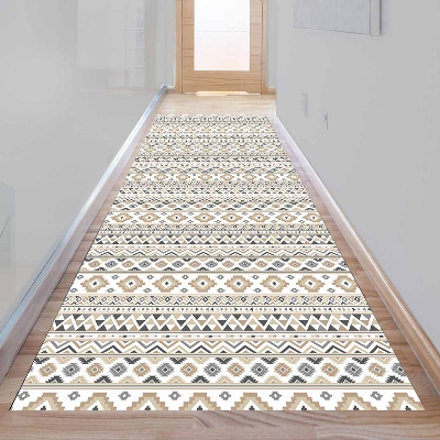 Else Aztec Bohemian Brown Gray Geometric 3d Print Non Slip Microfiber Washable Long Runner Mat Floor Mat Rugs Hallway Carpets