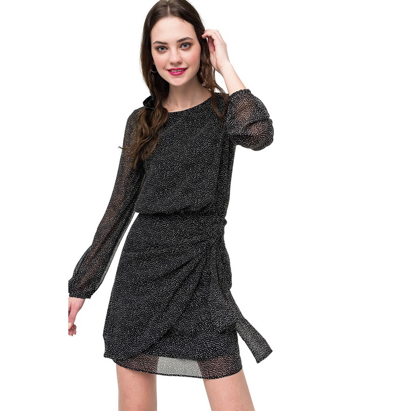 Dresses dress befree for female  long sleeve women clothes apparel  casual spring 1811343565-53 TmallFS v neck long sleeve off the breast dress