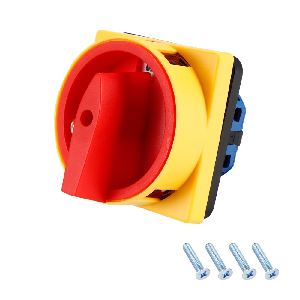 uxcell Changeover Switch 3 Position Rotary Selector Cam Switch Panel Mount 8 Terminals Latching Ui 550V Ith 16A