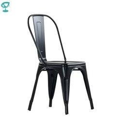 Barneo N-240 кухонный стул черный металлический стул для кафе стул для летника дизайнерский стул для улицы дачный стул уличный стул для дачи стул...