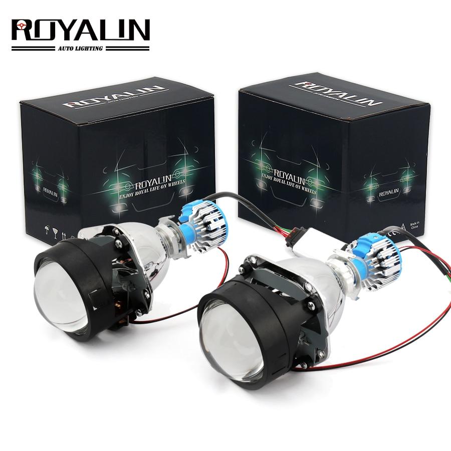 royalin bi led mini projector headlamp lens h1 2 5 39 39 car. Black Bedroom Furniture Sets. Home Design Ideas