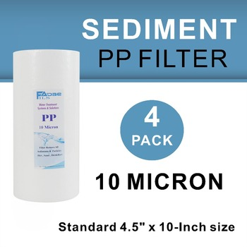 """4 PACK OF 10 Micron Big Blue Sediment Water Filter Cartridges 10"""" x 4.5"""" Whole House"""