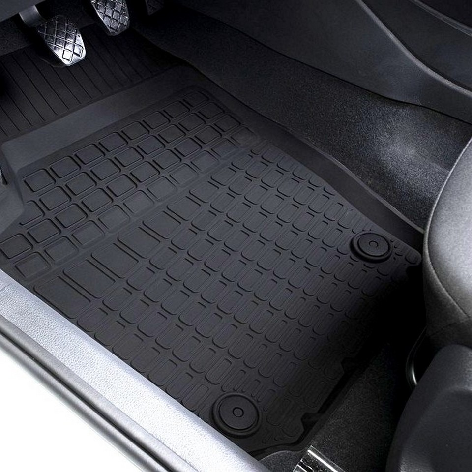 For Volkswagen Polo sedan 2009-2019 rubber floor mats into saloon 5 pcs/set Rival 65804001 недорого