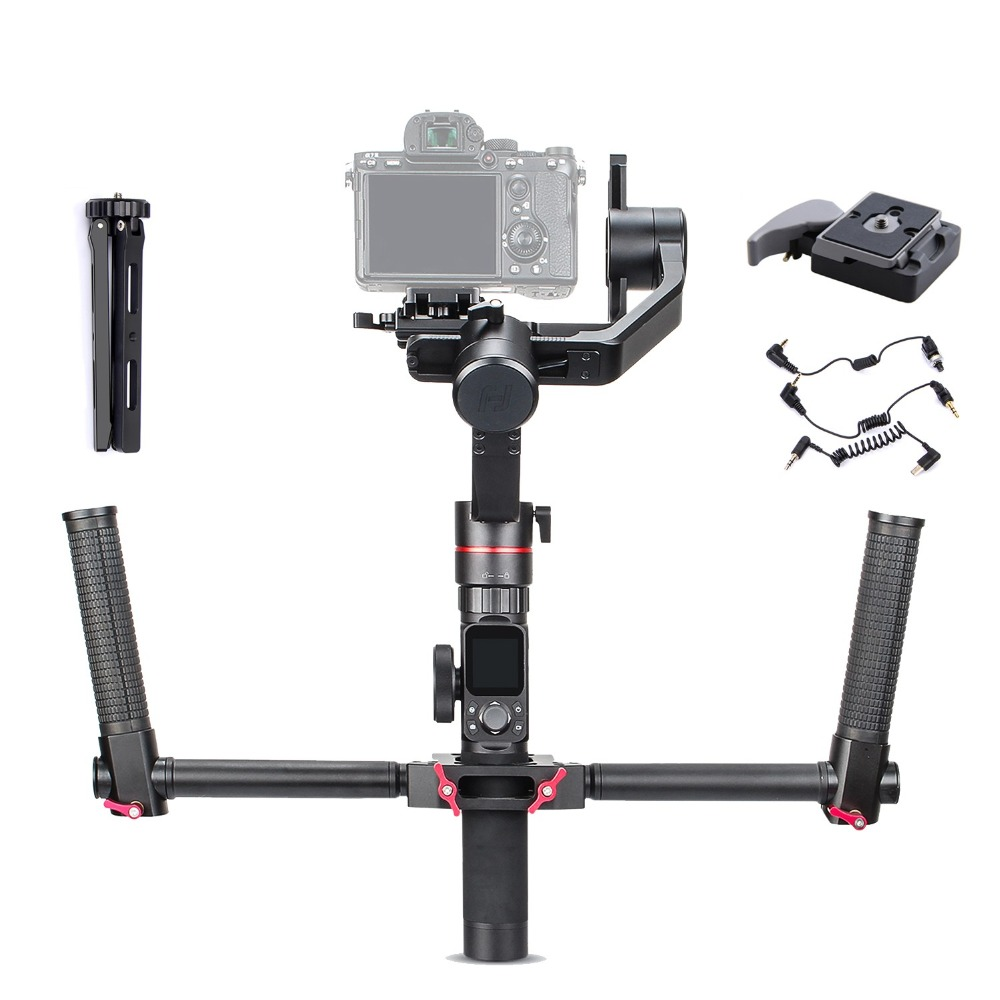 FeiyuTech Feiyu Tech AK2000 3 axes stabilisateur de caméra Handhel cardan pour Sony Canon Panasonic 2.8 kg charge utile avec double poignée