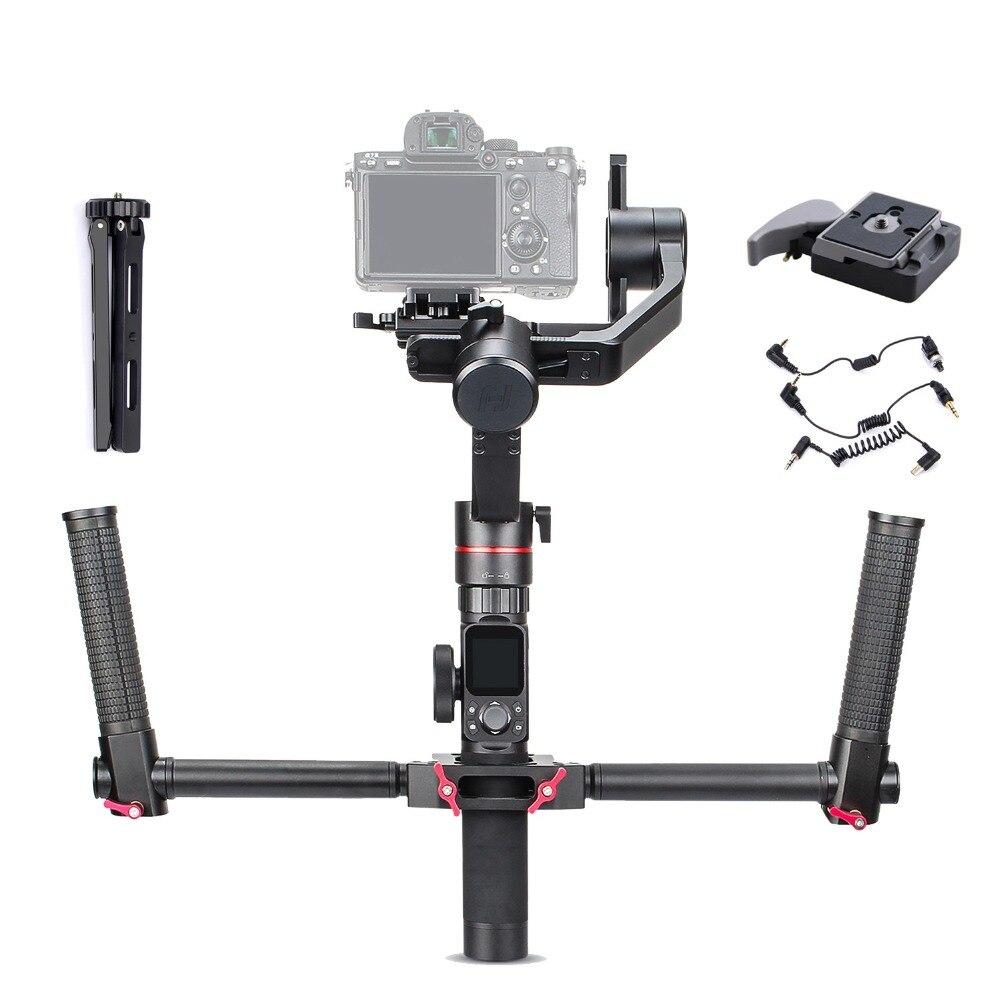 FeiyuTech Feiyu Tecnologia AK2000 3-Eixo Cardan para Sony Canon Panasonic Câmera Estabilizador Handhel 2.8 kg de Carga Útil Com Dual lidar com