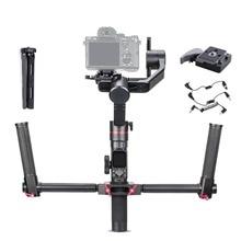 FeiyuTech estabilizador de cámara Feiyu Tech AK2000 3 ejes, cardán de mano para Sony Canon, Panasonic, 2,8 kg de carga útil con doble mango