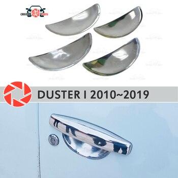 Di Bawah Door Handle Cover untuk Renault Duster 2010 ~ 2019 Stainless Steel Plate Gaya Dekorasi Aksesoris Molding